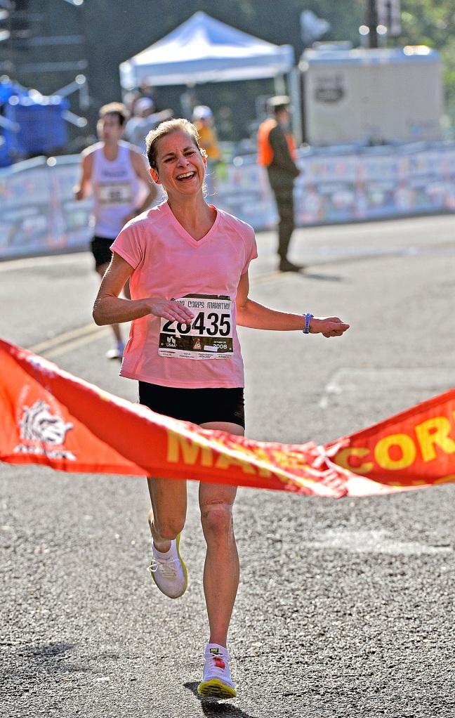 Souffrance de courir le marathon